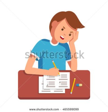 stock-vector-stressed-school-student-filling-out-answers-to-exam-test-answer-sheet-with-pencil-sitting-at-a-465599099